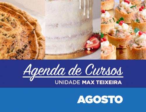 Cursos Agosto 2021 | Unidade Max Teixeira