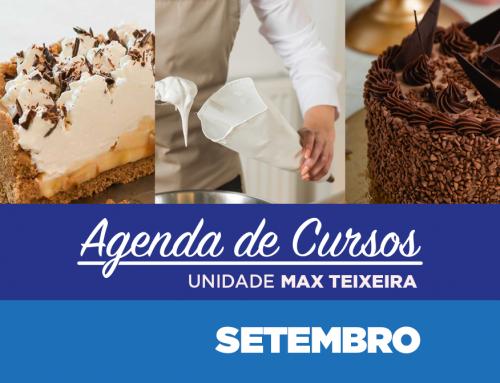 Cursos Setembro 2021 | Unidade Max Teixeira